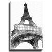 Bashian Home BW Fashion Eiffel Tower byKelsey McNatt Painting Print on Canvas