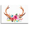 """Bashian Home """"Antlers"""" by Kelsey McNatt Painting Print on Wrapped Canvas"""