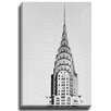 Bashian Home NYC Chrysler BW by Georgianna Lane Photographic Print on Canvas in Black and White