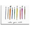 """Bashian Home """"Color your World"""" by Coco Draws Graphic Art on Wrapped Canvas"""