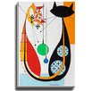 Bashian Home Cat U by Dominic Bourbeau Graphic Art on Wrapped Canvas