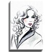 Bashian Home Curly Q by Lady Gatsby Painting Print on Wrapped Canvas