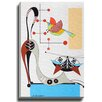 Bashian Home Cat L by Dominic Bourbeau Graphic Art on Wrapped Canvas