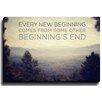 Bashian Home Every New Beginning by Lisa Russo Photographic Print on Wrapped Canvas