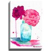 Bashian Home Mason Flower by Kelsey McNatt Painting Print on Wrapped Canvas