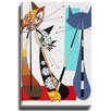 Bashian Home Cat M by Dominic Bourbeau Graphic Art on Wrapped Canvas