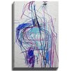 Bashian Home Bendy in Blue by Jenny Andrews Anderson Painting Print on Gallery Wrapped Canvas