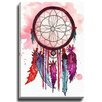 Bashian Home Red and Purple Dream Catcher by Kelsey McNatt Painting Print on Gallery Wrapped Canvas
