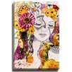 Bashian Home Flora by Jenndalyn Graphic Art on Gallery Wrapped Canvas