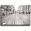 Bashian Home Milan street BW by Anita Huber Photographic Print on Gallery Wrapped Canvas