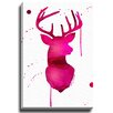 Bashian Home Pink Deer by Kelsey McNatt Painting Print on Gallery Wrapped Canvas