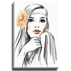 """Bashian Home """"Headband"""" by Lady Gatsby Painting Print on Gallery Wrapped Canvas"""