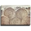 Bashian Home Hayrolls by Lisa Russo Photographic Print on Gallery Wrapped Canvas