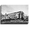 Bashian Home Industrial train side BW by Dean Penn Photographic Print on Gallery Wrapped Canvas