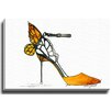 Bashian Home Butterfly Heel by Kelsey McNatt Painting Print on Gallery Wrapped Canvas