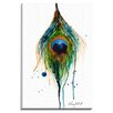 "Bashian Home ""Peacock Feather"" by Kelsey McNatt Painting Print on Wrapped Canvas"