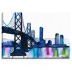 Bashian Home Bridge Watercolor by Kelsey McNatt Painting Print on Gallery Wrapped Canvas
