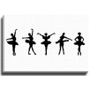 Bashian Home BW Ballerinas by Coco Draws Graphic Art on Gallery Wrapped Canvas