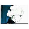 "Bashian Home ""Fashion Blue Profile"" by Kelsey McNatt Painting Print on Wrapped Canvas"