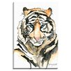 """Bashian Home """"Fun Tiger"""" by Kelsey McNatt Painting Print on Gallery Wrapped Canvas"""
