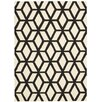 Nourison Linear Ivory & Black Area Rug
