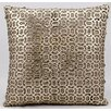 Nourison Laser Bias Laser Cut Natural Leather Throw Pillow