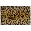 Nourison Glitter Leopard Coir Doormat