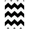 Dash & Albert Europe Chevron Black White Indoor/Outdoor Area Rug