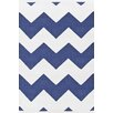 Dash & Albert Europe Chevron White Indoor/Outdoor Area Rug