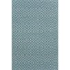 Dash & Albert Europe Diamond Slate Blue Indoor/Outdoor Area Rug