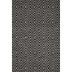 Dash & Albert Europe Diamond Black Ivory Indoor/Outdoor Area Rug