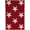Dash & Albert Europe Star Red/Ivory Indoor/Outdoor Area Rug
