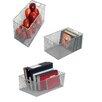 YBM Home 3 Piece Mesh Open Bin Storage Basket Organizers Set