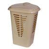 YBM Home Plastic Perforated Rectangular Lift Top Laundry Hamper with Lid