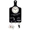 Westclox Clocks Chalk Board Key Holder Wall Clock