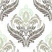 Swag Paper Fern Garden Floral Panel Wallpaper