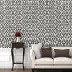 Swag Paper Outline Damask Panel Wallpaper