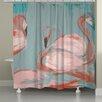 Laural Home Flamingos Shower Curtain