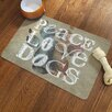 Laural Home Peace Love Dogs Pet Mat