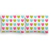 Sélène et Gaïa Printemps Little Hearts Housewife Pillowcase