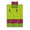 Sélène et Gaïa Jungle Vert 57 Thread Count 100% Cotton Fitted Sheet