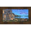 Hadley House Co 'Lakeside Retreat' by Geno Peoples Framed Painting Print on Wrapped Canvas