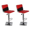 Container Adjustable Height Swivel Bar Stool (Set of 2)