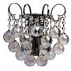 MW Handel GmbH 1 Light Crystal Armed Sconce