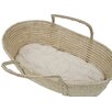 "Wendy Anne 30""L Cotton Moses Basket 1.5"" Bassinet Mattress"