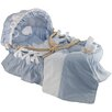 Wendy Anne Egyptian-Quality Cotton Moses Basket Bedding Set With Canopy
