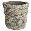 Round Stacked Rock Cement Pot Planter - Prinz Planters