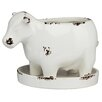 Cow Glazed Ceramic Statue Planter - Prinz Planters