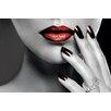 NEXT! BY REINDERS Deco Panel Rote Lippen und Nägel - 60 x 90 cm