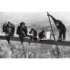 NEXT! BY REINDERS Deco Panel Schimpansen auf Balken - 60 x 90 cm